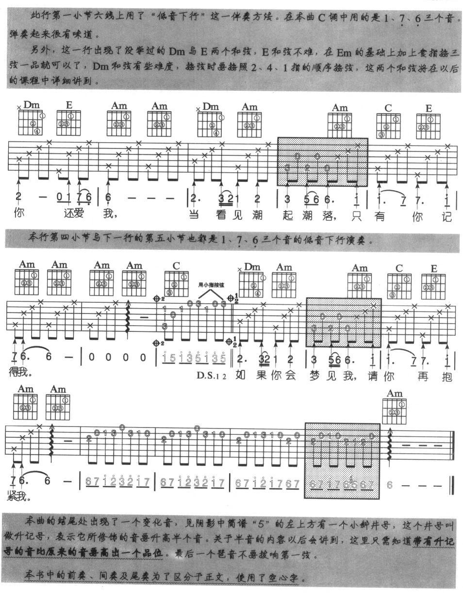盛夏的果实 吉他弹唱 吉他谱 盛夏的果实 吉他弹唱 简谱 莫文蔚